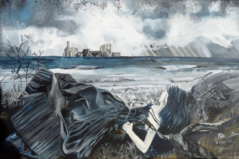 Óleo sobre lienzo titulado Belleza Oscura 2010. Pintada por Esmeralda