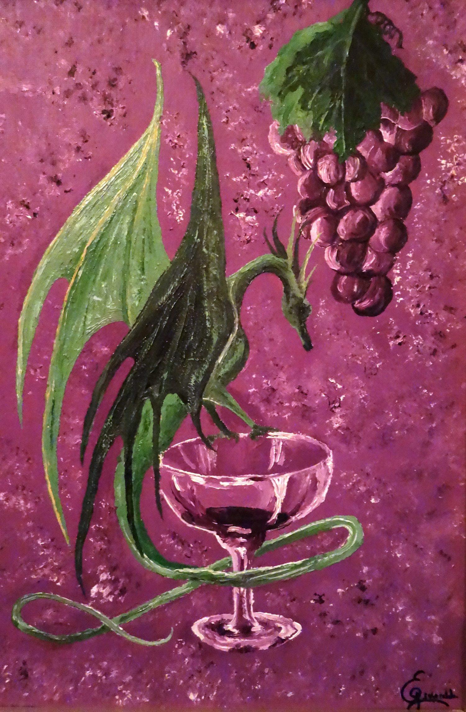 Óleo sobre lienzo, el segundo óleo pintado por Esmeralda. Inspirado en un cuadro de artista desconocido.