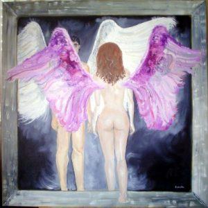 cuadro oleo angeles