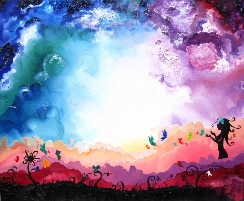 Cuadro a óleo, 50 x 60 cm, titulado Sueño de Brileisa de Esmeralda