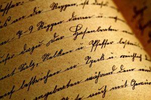 texto escrito a mano